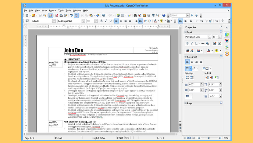 example of open source word processing software