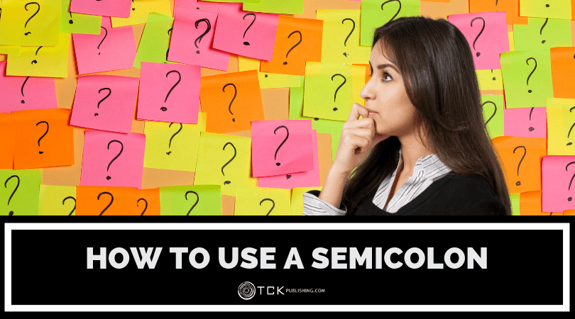example how to use a semicolon