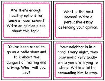 example of persuasive speech writing grade 4