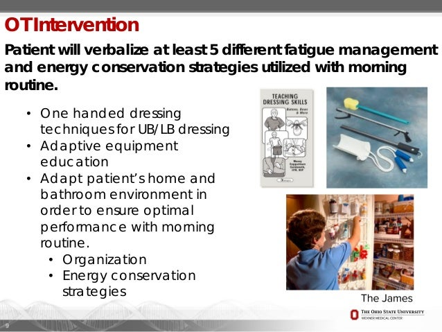 case study example occupational therapy