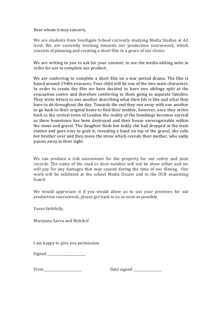 example of letter of request for venue