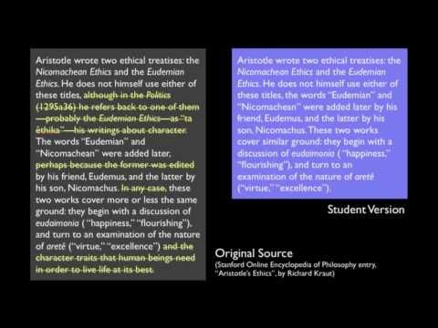 example of plagiarism from a popular source