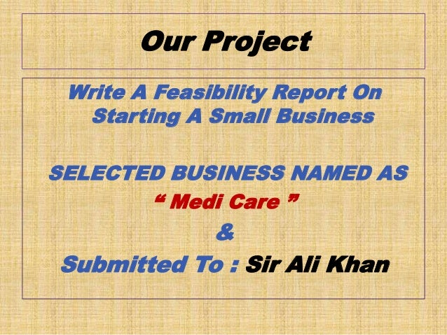 feasibility study example for small business
