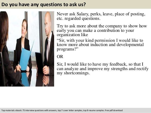 give example of interview questions and answers for secretary
