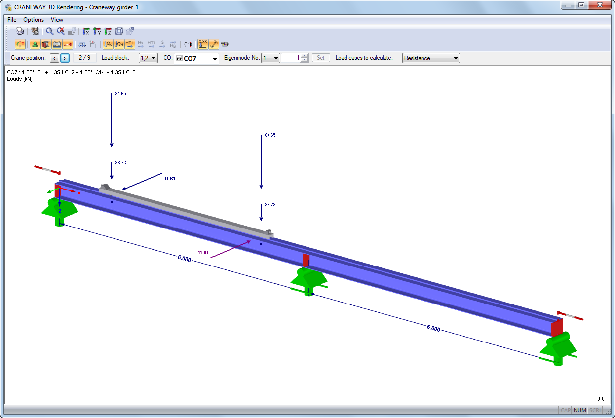 crane runway beam design example eurocode