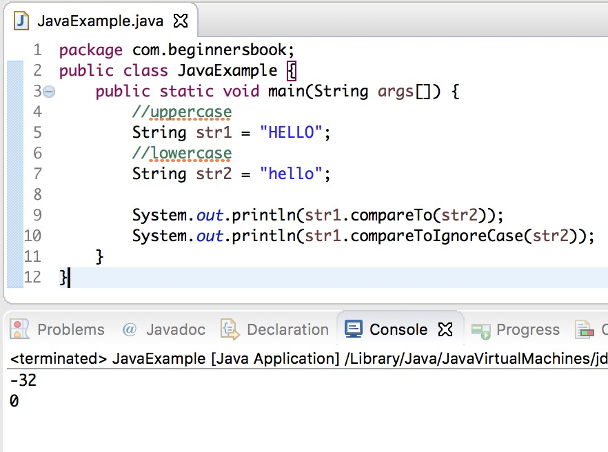 what is string in java with example