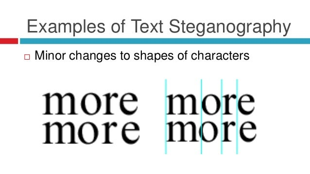 plaintext steganography with line shifting example