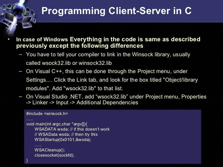 socket programming in c++ windows example