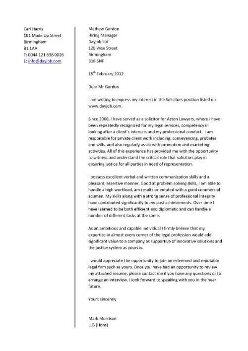 communication skills cover letter example