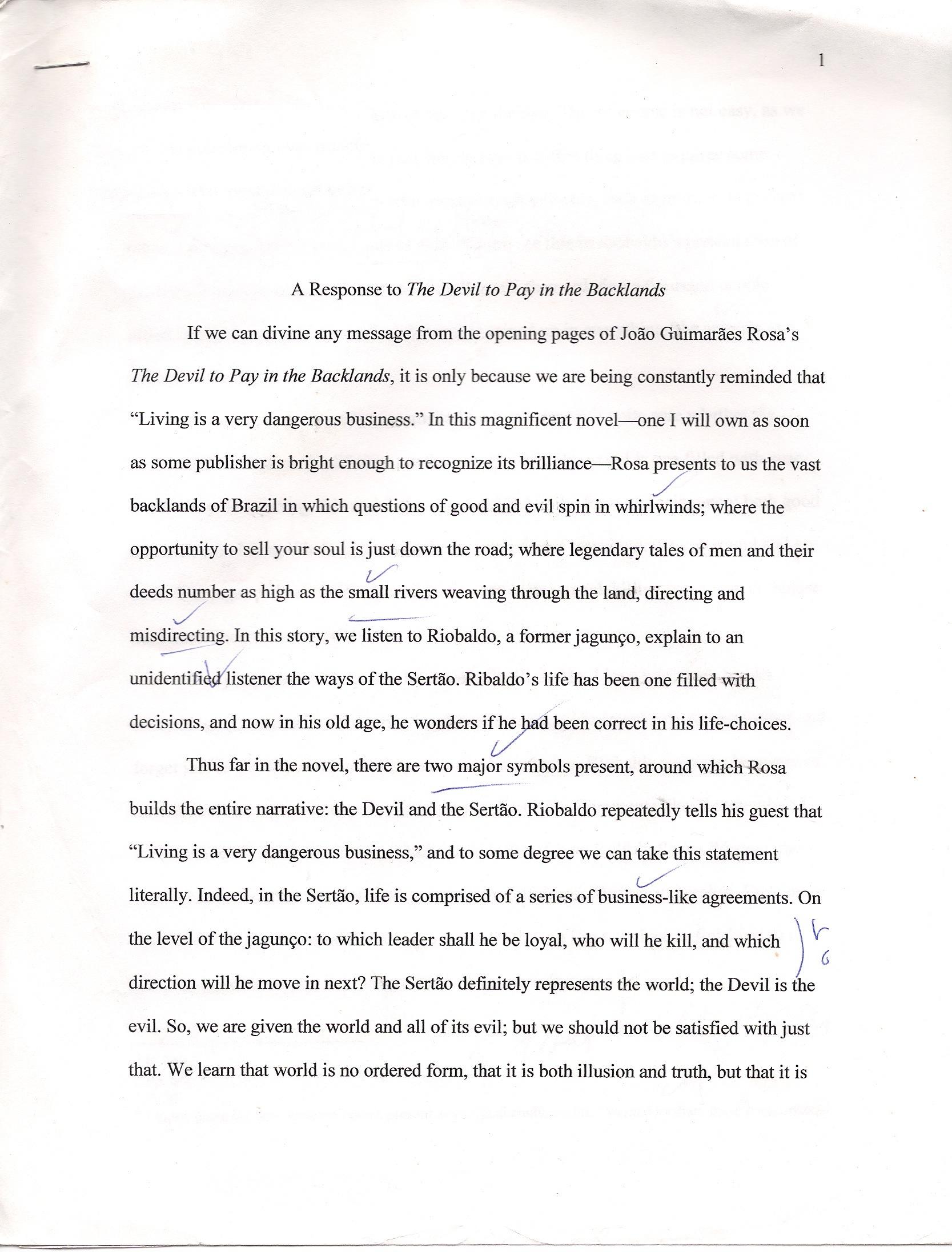 apa full sentence outline example
