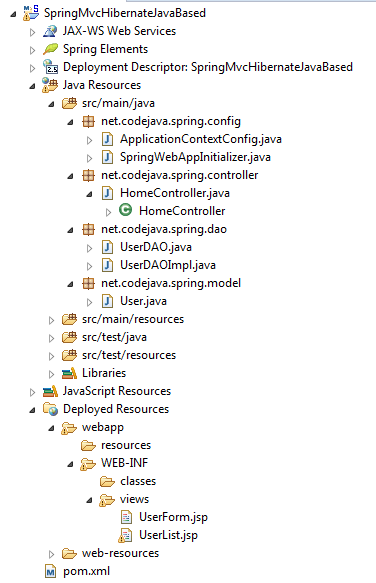 spring mvc with hibernate integration example with annotations