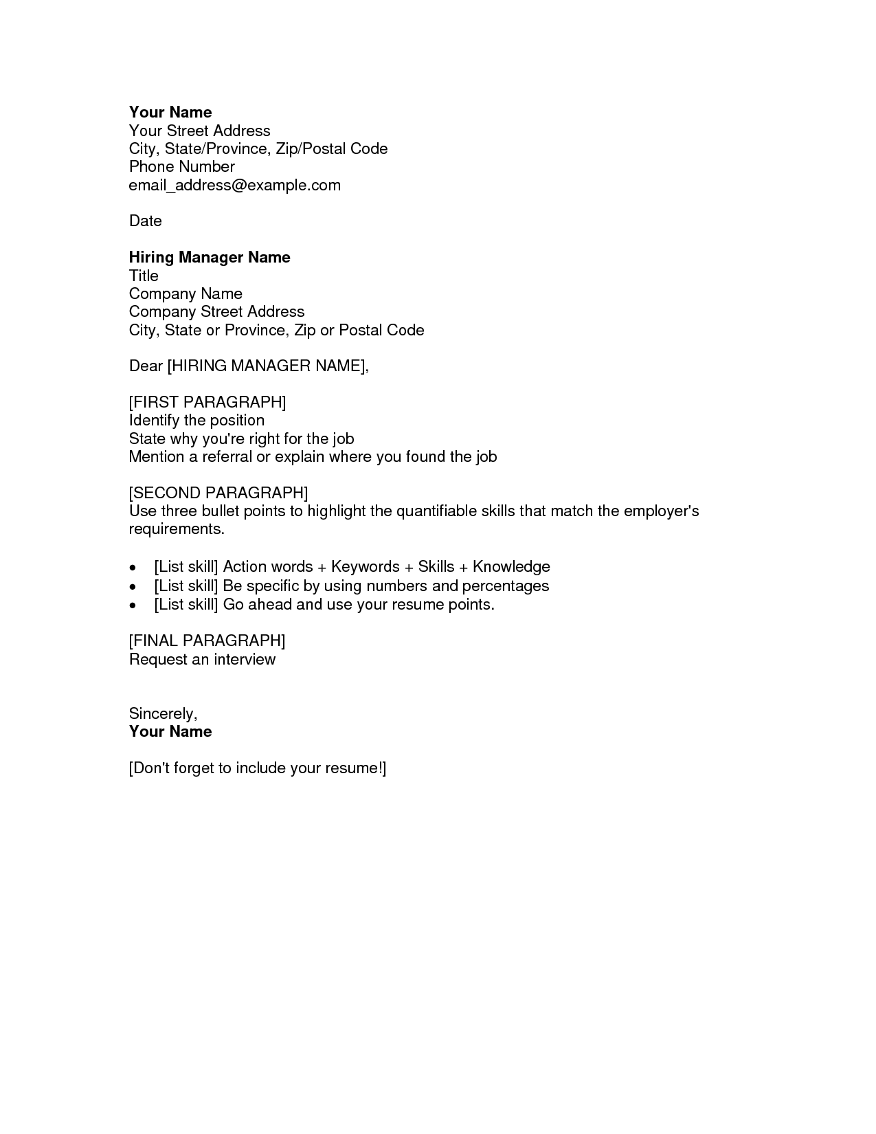 cs cover letter example reddit