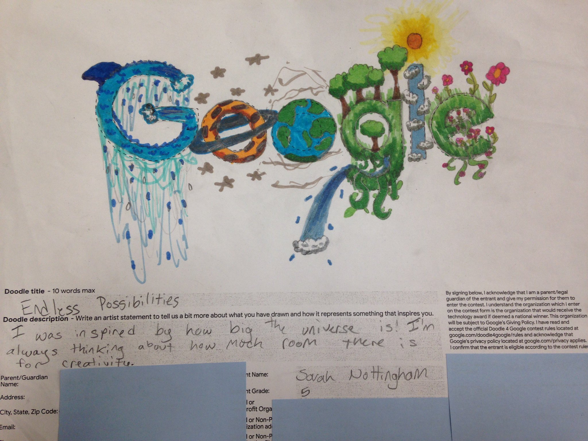 student grade 9 artist statement example