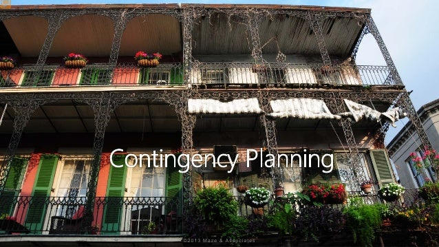 risk management contingency plan example