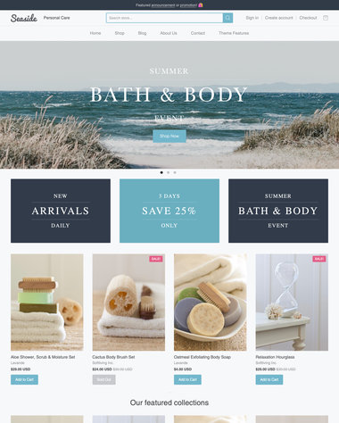 shopify large product line example