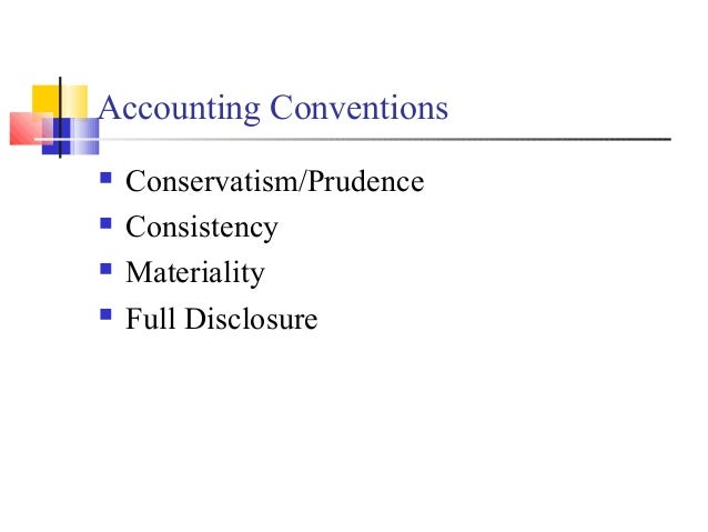 convention of conservatism with example