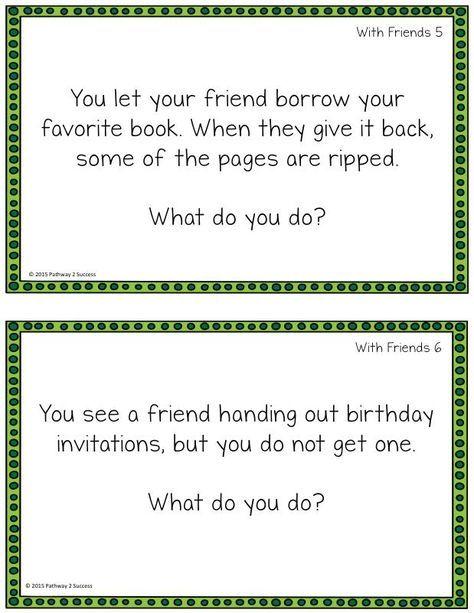 friendship role play scenarios example