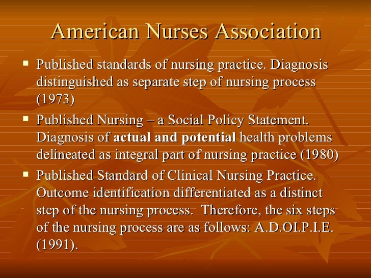 he nursing association would be an example of