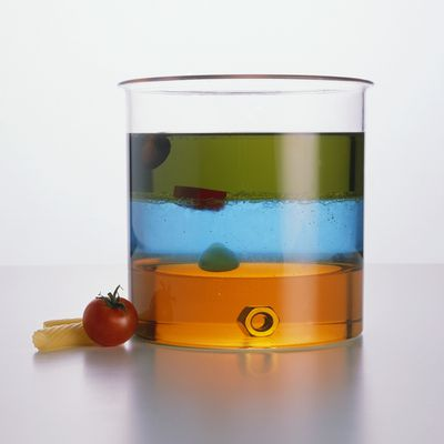 example of a substance with a density less than 1g/ml