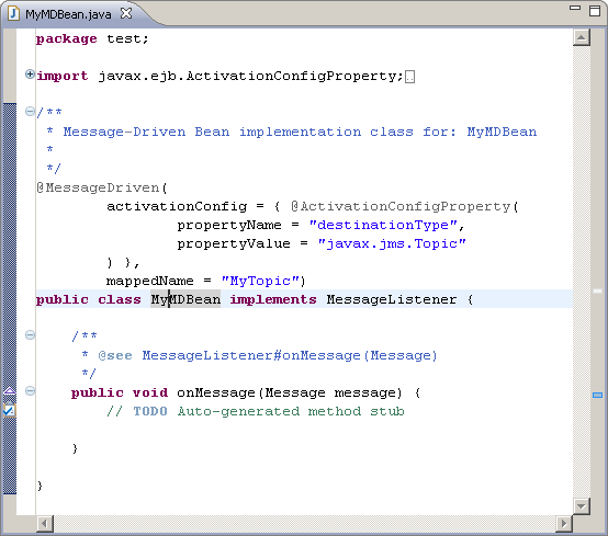 message driven bean example in eclipse
