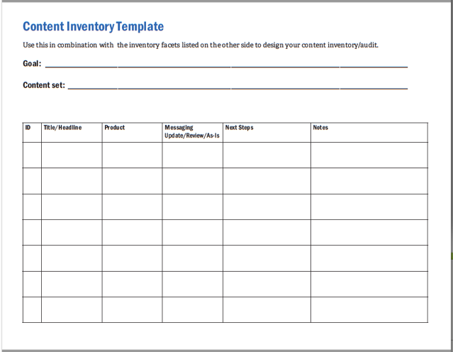 example of audit program for inventory