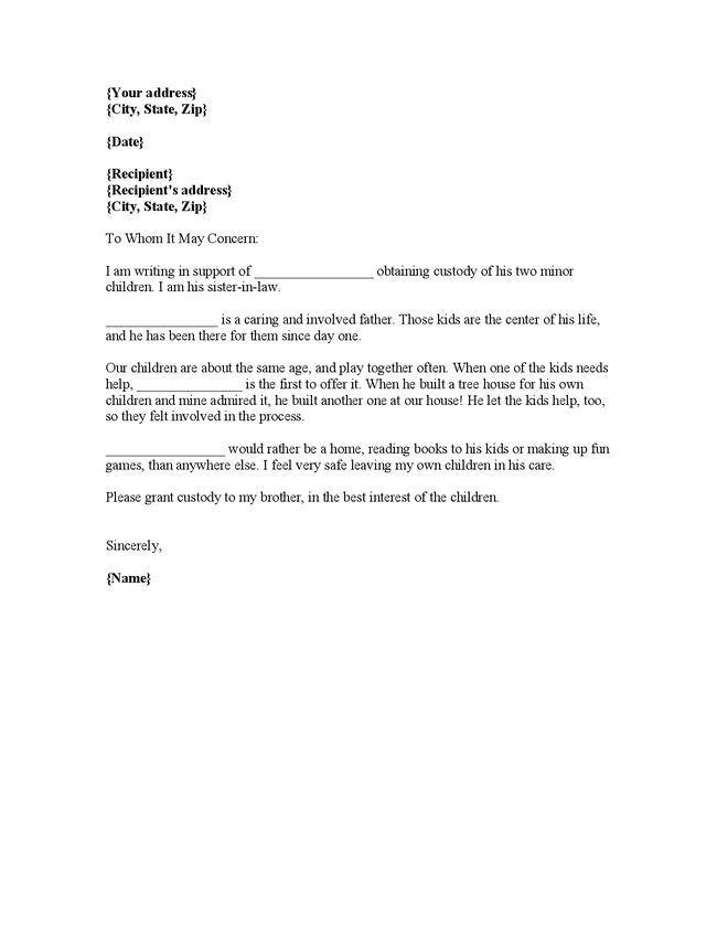 court character reference letter example australia