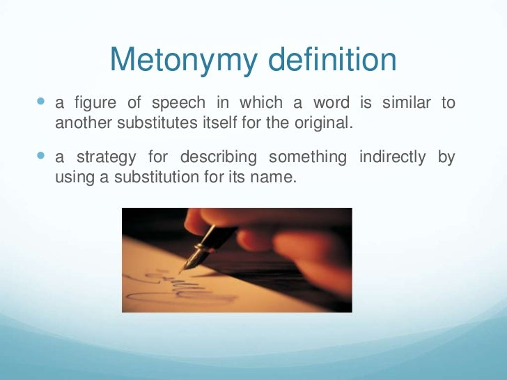 what is an example of a metonymy