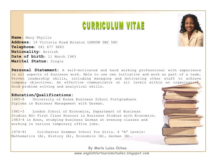 dual citizenship on cv example