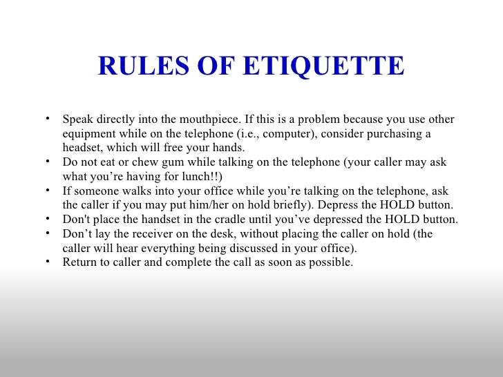 example of rules policies regulations for communication in a workplace