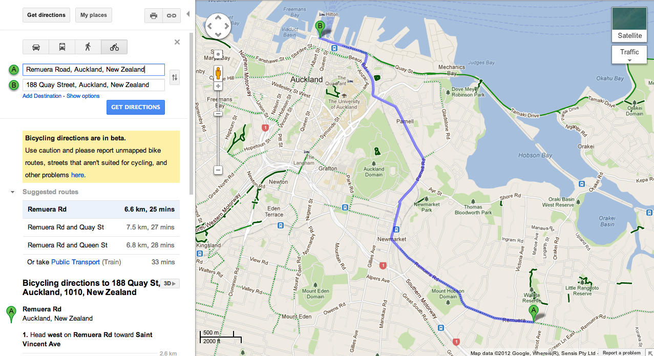 google.maps.directions route example