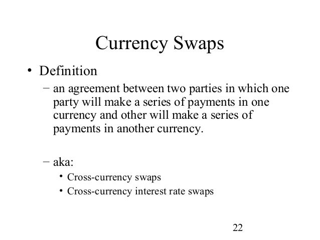 fixed for fixed currency swap example
