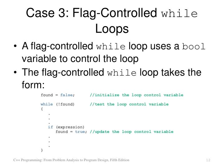 while loop in c programming example ppt