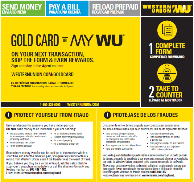 western union transfer number example