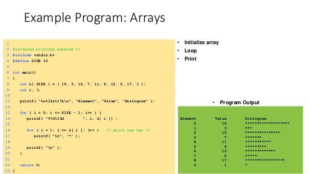 array in data structure with example