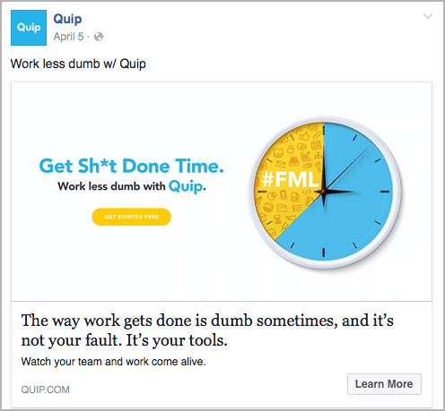 best example of facebook ad