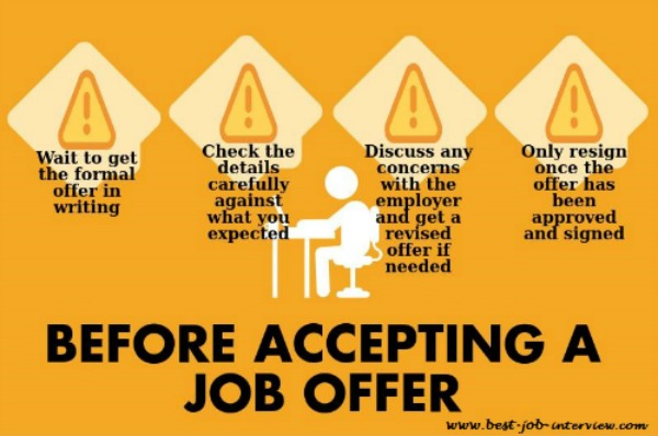 responding to a job offer example