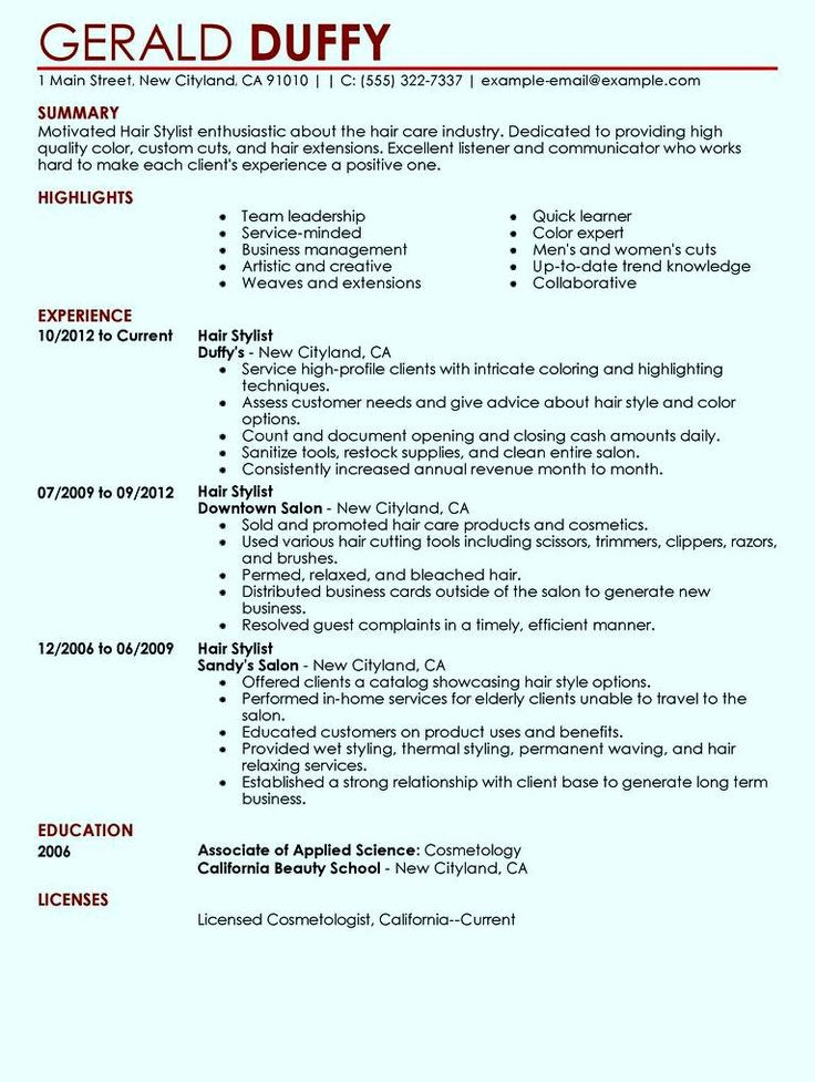 example of good resume in housekeeping