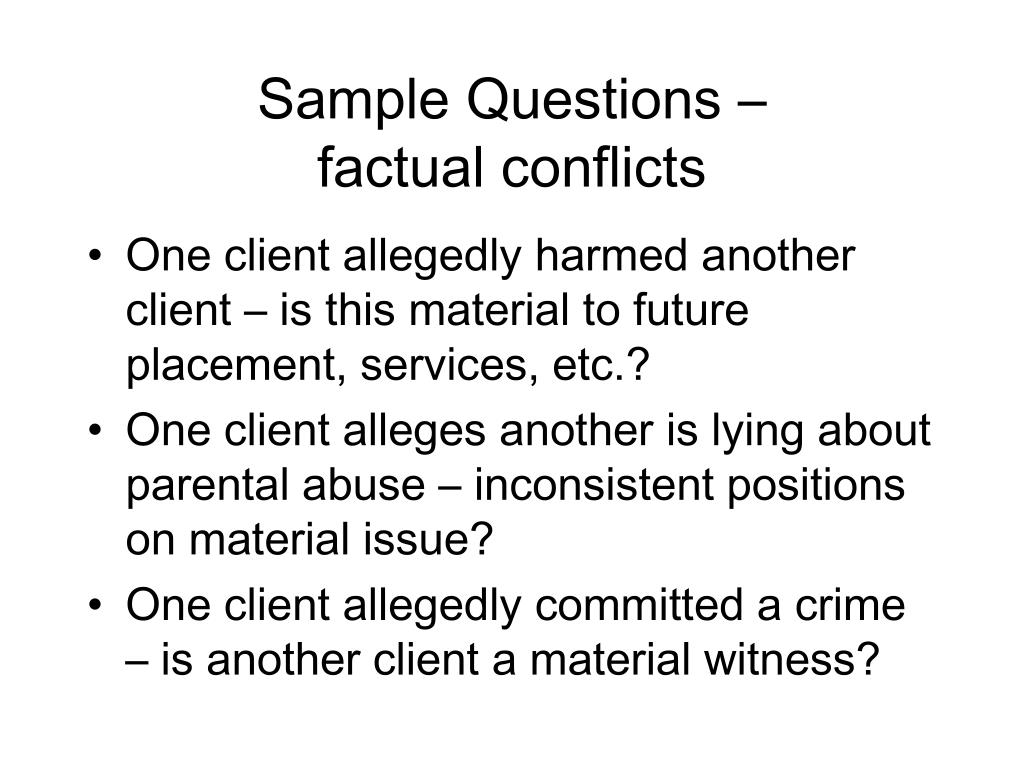 conflict with client interview question example