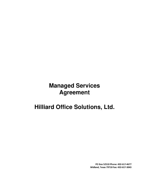 managed service provider contract example