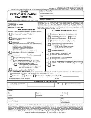 example of patent application uspto