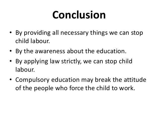 example essay on child labour