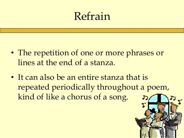 example of a poem that uses a refrain