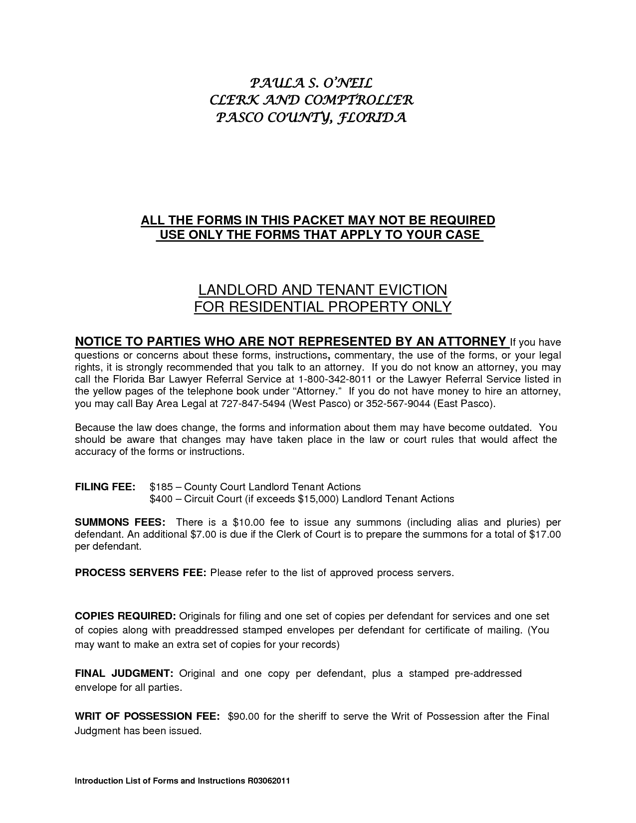example of eviction notice to tenant in south africa