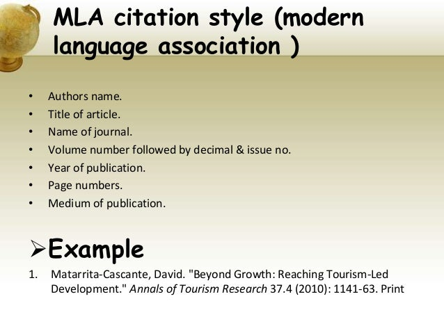 example of mla citation for journal article