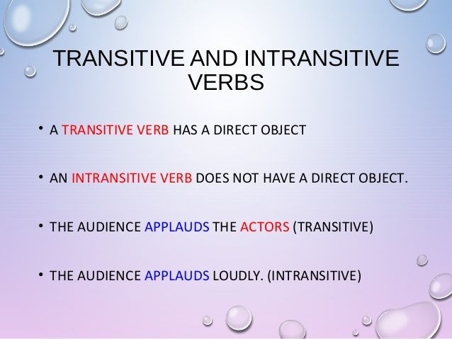 example of two word verbs in sentences