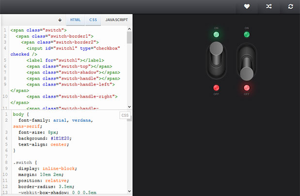 flip toggle switch jquery mobile example