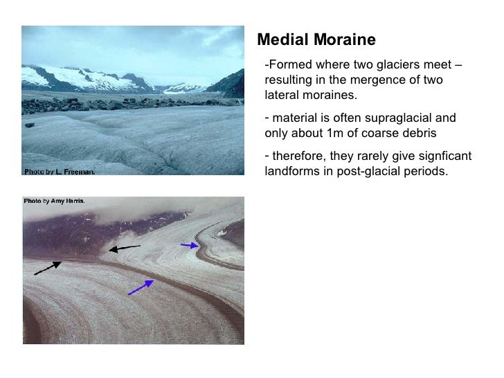 give an example of glacial deposition