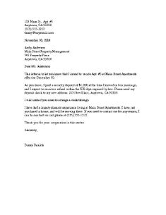 giving notice to landlord ontario example letter