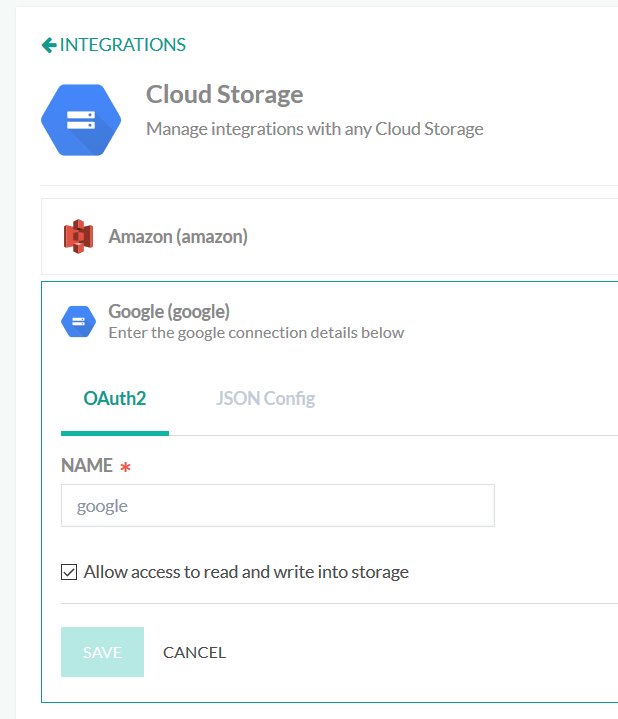 google cloud storage node js example