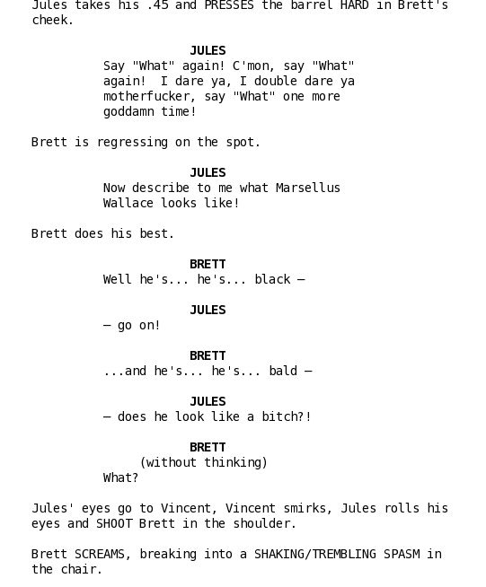 how to write a short film script example